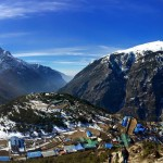 Namche Bazaar from above.