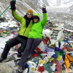 Roderick Russell and Gwen Toohey at Everest Base Camp